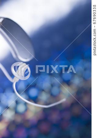 Hearing aid closeup isolated 67690338