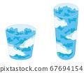 Blue sky jelly set 67694154