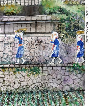 大原恩奈大原山前娘女學生京都觀光學校旅行 67694956