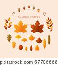秋天的落葉和橡子 67706668