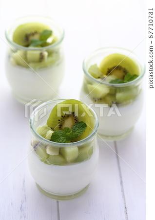 夏季甜品獼猴桃潘納陶 67710781