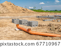 pipes for waste in the construction of a family house 67710967