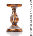 Golden retro candlestick isolated on white 67712199