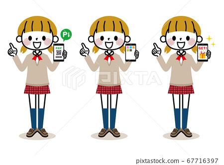 女學生智能手機 67716397