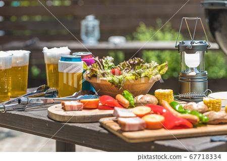 夏季休閒燒烤活動 67718334