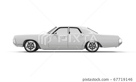 Lateral view of a generic unbranded old car 67719146