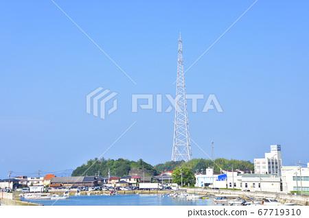 奧之島(宇佐木島)的風景和前往島的輪渡路線 67719310