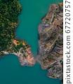 Aerial view of Konduki, Romancevskie gory in Tula Oblast, Russia 67720757