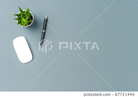 Office background with copyspace. Top view 67721449