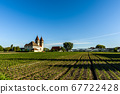 Church of St. Peter and Paul, vegetable cultivation, Monastic Island of Reichenau, Lake Constance, Germany 67722428