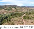 Aerial view of Los Penasquitos Canyon Preserve, San Diego 67723392