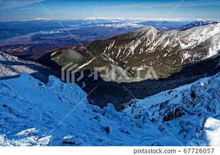타케 능선 · 지장 능선 분기에서 보면 북쪽 알프스 산맥 67726057