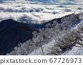 The sea of clouds on the Kiyosato side as seen from the Yatsugatake mountain range and Akadake ridgeline 67726973