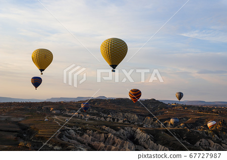 國外,土耳其,旅行,卡帕多細亞,熱氣球,上午,日出,年 67727987