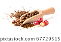 roasted coffee beans isolated on a white 67729515