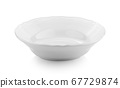 empty ceramic bowl on white background 67729874