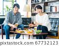 식사 부부 점심 커플 가족 거실 라이프 스타일 캐주얼 67732123