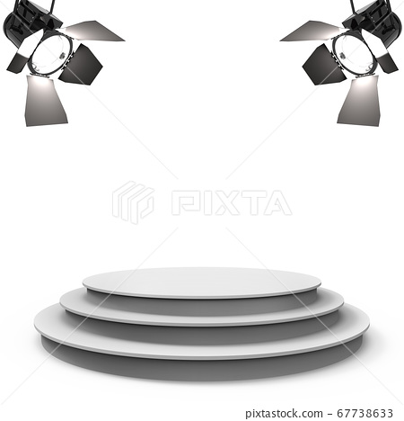 White empty stage with two spotlights 67738633