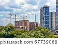 Modern construction of residential high-rise 67739069