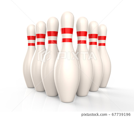 Bowling skittles isolated 67739196