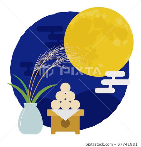觀看第十五夜滿月圖的秋月 67741981