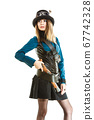 Steampunk girl with gun 67742328