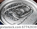 aluminum can with carbonated water 67742630