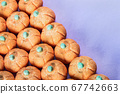 small marshmallow pumpkins with a sprinkle of sugar 67742663