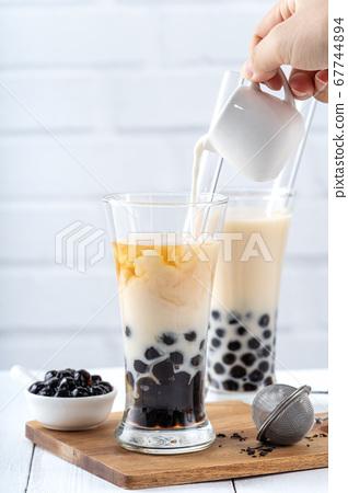 台灣小茶波霸奶茶木薯粉珍珠粉珍珠奶茶 67744894