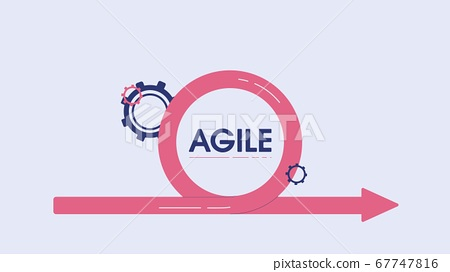 Management agile team concept. Line process high quality business plan for clever intuitive strategy of company. 67747816