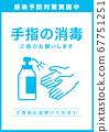 Alcohol disinfection awareness poster 67751251