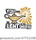 Christian typography, lettering and illustration. You are the light of the world. 67752298