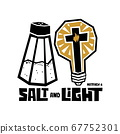 Christian typography, lettering and illustration. Salt and light. 67752301