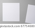 Business mock up cards with copy space on grey 67754680