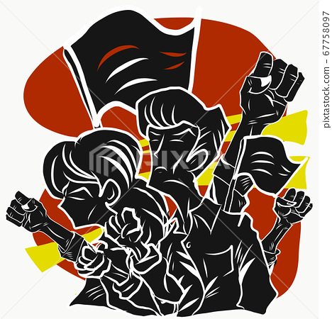 people protesters vector image for Protest or 67758097
