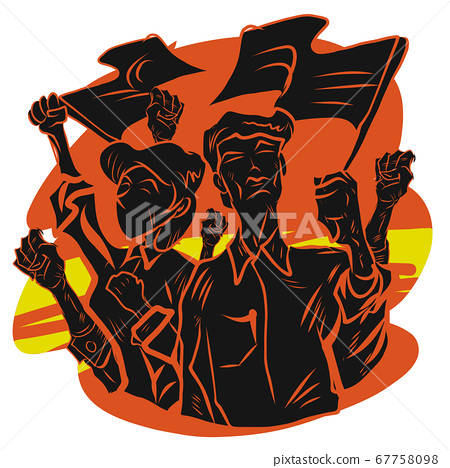 people protesters vector image for Protest or 67758098