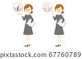 脱毛美容院工作人员设置(发根图,指向和指向)矢量图 67760789
