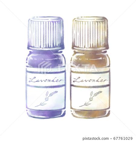 薰衣草香氣精油瓶(藍色/棕色) 67761029