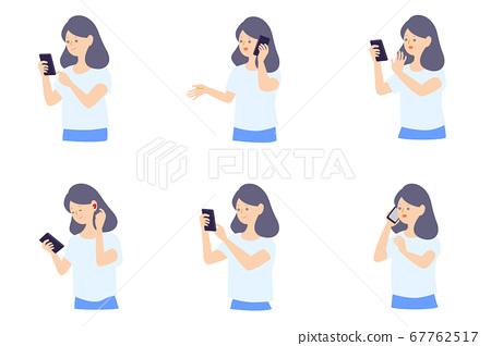 智能手機的女人 67762517
