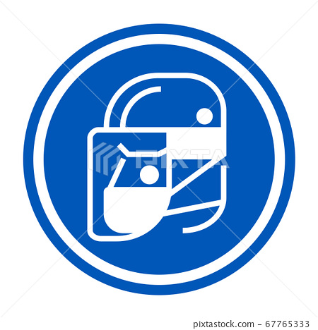 Simple wear protective Face shield icons for your design 67765333