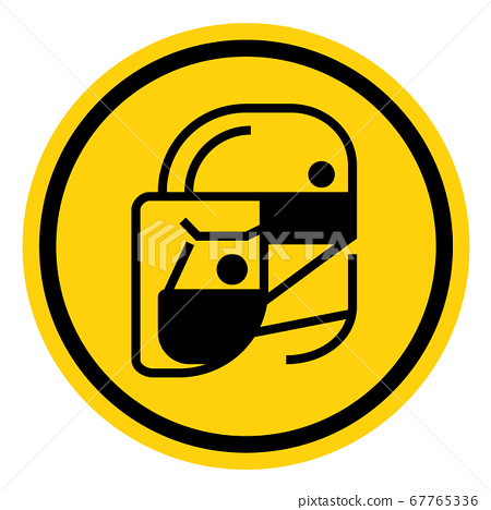 Simple wear protective Face shield icons for your design 67765336