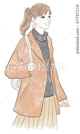 穿著大衣的女人 67767219