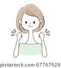 一个发挥胆量姿势的女人 67767626