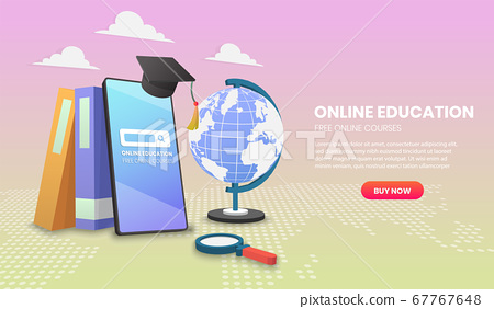 online education on Mobile with books Application 67767648