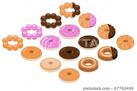 다양한 도넛 사시 일러스트 67768498