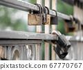 old iron padlock close up 67770767
