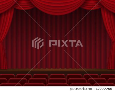 紅幕落下的舞台 67772206
