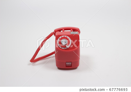 a scale of figure Pay phone, red public phone, 67776693