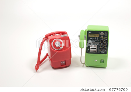 the scale of Japanese pay phone on the board 67776709