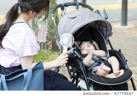 Mobile fan mom and baby 67778687